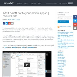 Add CometChat to your app in minutes!