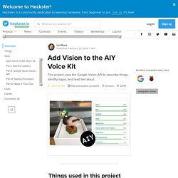 Add Vision to the AIY Voice Kit