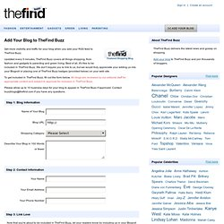 Add Your Blog - TheFind Buzz