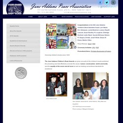 Jane Addams Peace Association Children's Book Awards