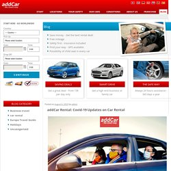 addCar Rental: Covid-19 Updates on Car Rental