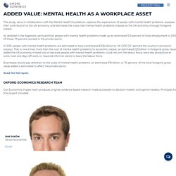Added Value: Mental health as a workplace asset