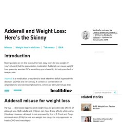 Adderall and Weight Loss: What You Need to Know