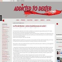Addicted To Dexter - Le blog de la série Dexter