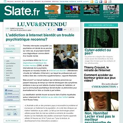 Cyberaddiction au DSM