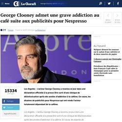George Clooney admet une grave addiction au café suite aux publicités pour Nespresso