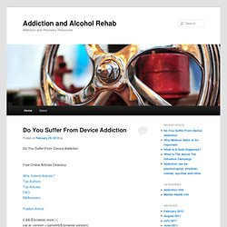 Addiction and Recovery Resources