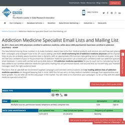 Addiction Medicine Specialist Email List
