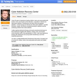Cyber Addiction Recovery Center, Clinical Social Work/Therapist, Culver City, CA 90232