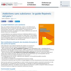 Addictions sans substance : le guide Repère(s est paru !