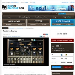 Addictive Drums, Addictive Drums plugin, buy Addictive Drums, download Addictive Drums trial, XLN Audio Addictive Drums