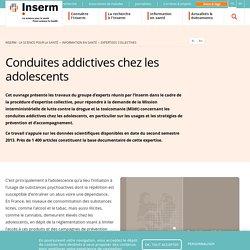 Conduites addictives chez les adolescents