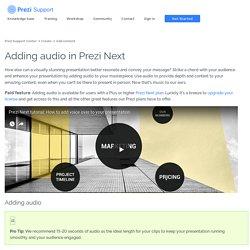 Adding audio in Prezi Next – Prezi Support Center