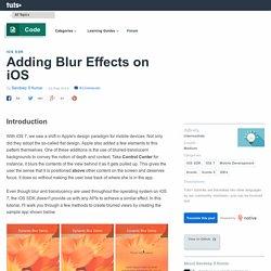 Adding Blur Effects on iOS - Tuts+ Code Tutorial