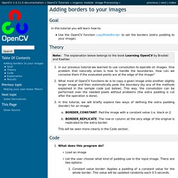 Adding borders to your images — OpenCV 2.4.11.0 documentation
