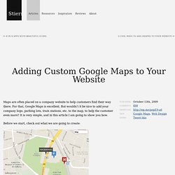 Adding Custom Google Maps to Your Website