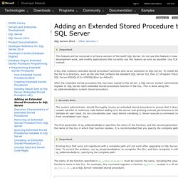 Adding an Extended Stored Procedure to SQL Server