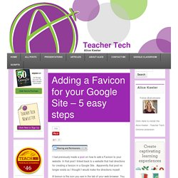 Adding a Favicon for your Google Site
