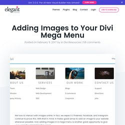 Adding Images to Your Divi Mega Menu