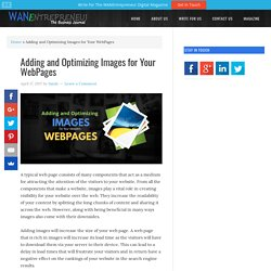 Adding and Optimizing Images for Your WebPages