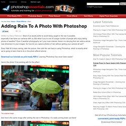 Adding Rain To A Photo With Photoshop