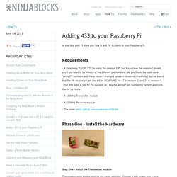 Adding 433 to your Raspberry Pi