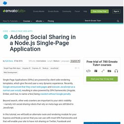 Adding Social Sharing in a Node.js Single-Page Application