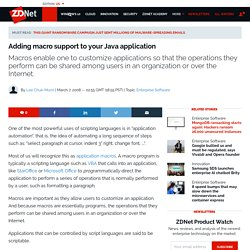 Adding macro support to your Java application