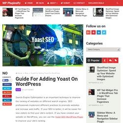 How to Adding Yoast SEO WordPress Plugin to Your WordPress Site