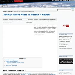 Adding YouTube Videos To Website, 4 Methods