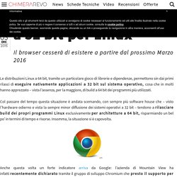 Addio a Google Chrome a 32 bit per Linux