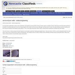 semiconductor wafer - addisonengineering-newcastleclassifieds