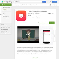 Cahier de Notes - Additio – Applications Android sur Google Play