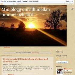 Min blogg om allt mellan himmel och jord: addition