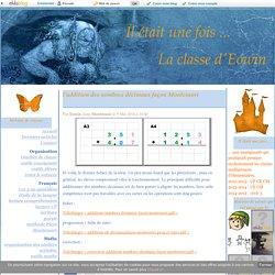 l'addition des nombres décimaux façon Montessori - La classe d'Eowin