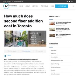 How much does second floor addition cost in Toronto