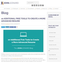 10 Additional Free Tools to Create a More Advanced Resume