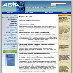 ASIA Additional Grant Opportunities