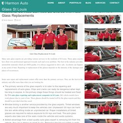 Additional Services Can Now Be Offered With Auto Glass Replacements - Harmon Auto Glass St Louis