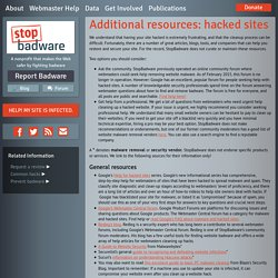 Additional resources: hacked sites