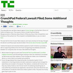 CrunchPad Federal Lawsuit Filed; Some Additional Thoughts