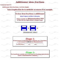 Additionner deux fractions