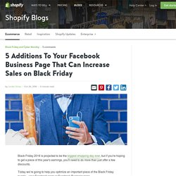 5 Additions To Your Facebook Page That Can Boost Black Friday Sales