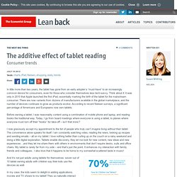 The additive effect of tablet reading