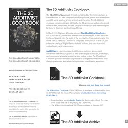 #Additivism — The 3D Additivist Cookbook