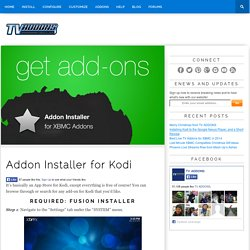 Addon Installer for Kodi