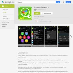 Addons Detector - Apps on Android Market