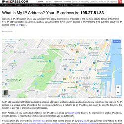My IP address? Free IP Address tracer and IP address lookup