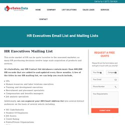 HR Executives Mailing Database List