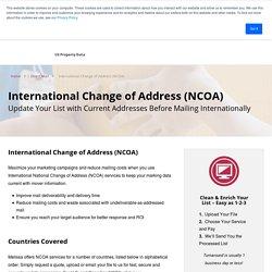 International Change of Address (NCOA)